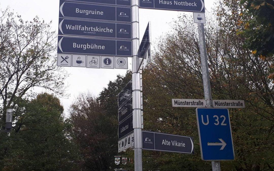 Touristisches Wegweiser-System für das Burgdorf Stromberg