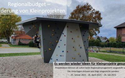Letzter Aufruf Regionalbudget 2021